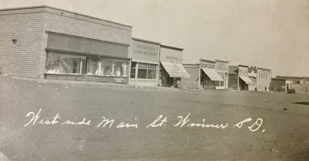 Main Street, Winner, SD (postcard)